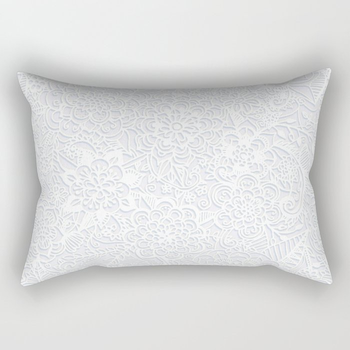 Embossed Powder & Pearl Lace Rectangular Pillow