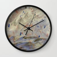 anxiety Wall Clocks featuring Anxiety by Kali Thomas