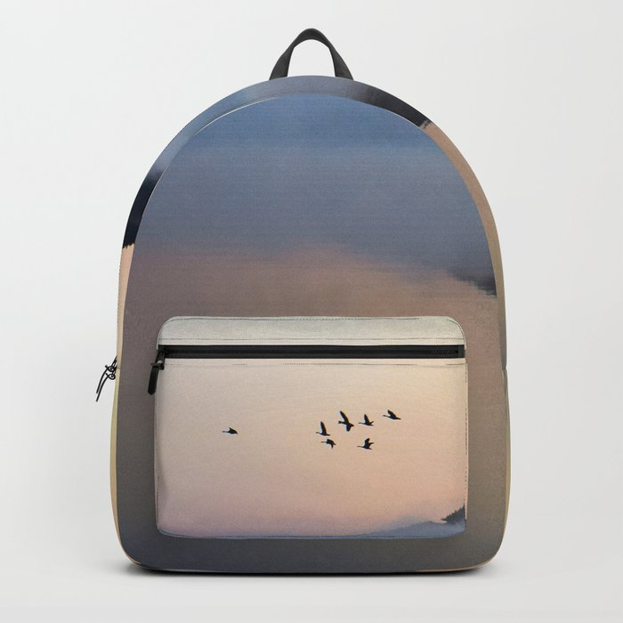 Enlightenment: Sunrise on Lake George Backpack