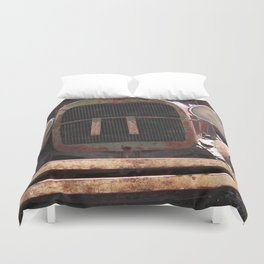 Truck Grill, Old Truck Grill, Vintage, Antique Truck Duvet Cover