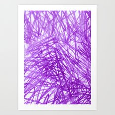 Ophelia Purple Art Print