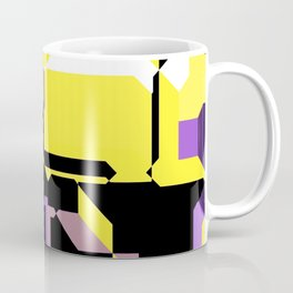 Nonbinary Pride Abstract Circuit Pattern Coffee Mug