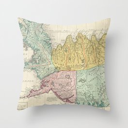 Vintage Map of Iceland (1761) Throw Pillow