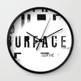 « survie en blanc » Wall Clock