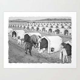Dairy Baby Housing Art Print