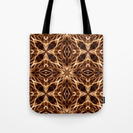 Abstract Geometric Light Factual Copper Tote Bag