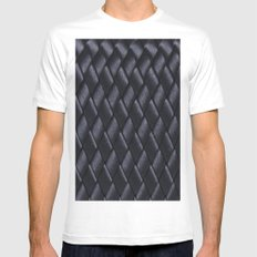 Woven Black Mens Fitted Tee White MEDIUM