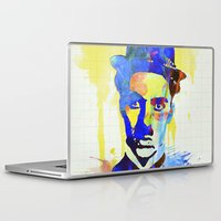 charlie chaplin Laptop & iPad Skins featuring charlie chaplin 04 by manish mansinh