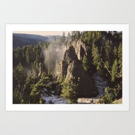 Bend in the Canyon Art Print