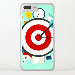 Wall clock funny Clear iPhone Case