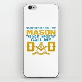 I'm a MASON and a DAD iPhone Skin