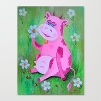 cow Canvas Prints featuring Cow by OLHADARCHUK