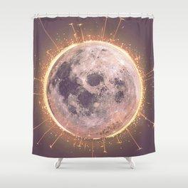 Lunar Fireworks Shower Curtain