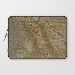 Forest Green Marble Laptop Sleeve