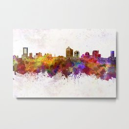 New Haven skyline in watercolor background-2 Metal Print