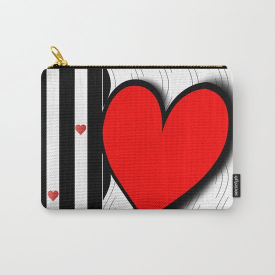Black and white meets red Version 21 Carry-All Pouch