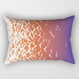 Bird Frenzy at Sunrise Rectangular Pillow