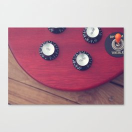 Guitar Dials Canvas Print