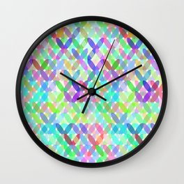 Crossing Colours Wall Clock