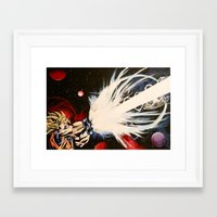 dbz Framed Art Prints featuring DBZ Galaxy by DrewzDesignz