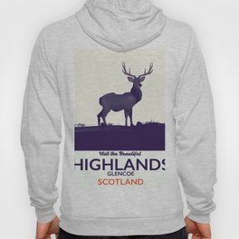 Scottish Highlands, Glencoe travel poster Hoody