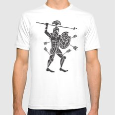 the warrior Mens Fitted Tee White LARGE