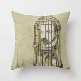 Michel Du Montaigne (1533 - 1592) An Inspirational Philosopher; Prison in the Sky Throw Pillow
