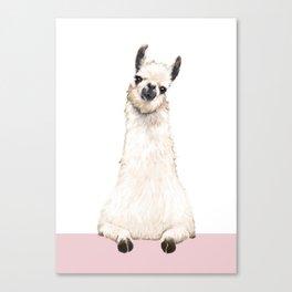hi! Llama Canvas Print