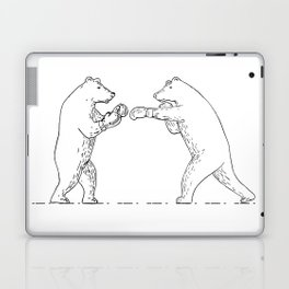 Two Grizzly Bear Boxers Boxing Drawing Laptop & iPad Skin