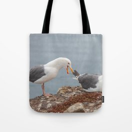 Noisy Gulls Tote Bag