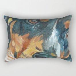 Sassy Girl Banjo Dog Portrait Rectangular Pillow