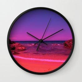 Fantasy beach 2 Wall Clock