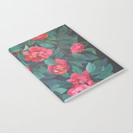 Camellias, lips and berries. Notebook