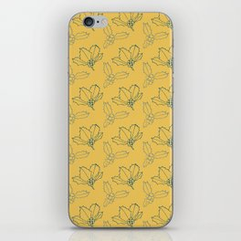 Holy Berries Blue on Gold iPhone Skin
