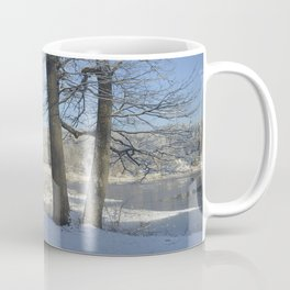 December Snow Delaware River View Coffee Mug