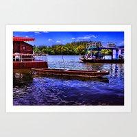Danube River Fine Art Print Art Print