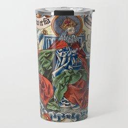 God Enthroned from the Nuremberg Chronicle Travel Mug