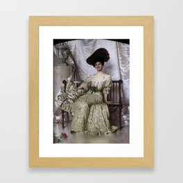 Vittorio Matteo Corcos - Portrait of Contessa Nerina Pisani Volpi di Misurata Framed Art Print
