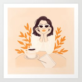 Coffee Shop Afternoon Art Print