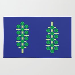 Vegetable: Brussels Sprout Blue Rug