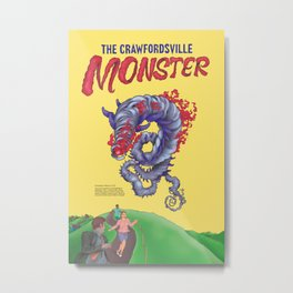 The Crawfordsville Monster (Atmospheric Beasts Poster 1 of 3) Metal Print