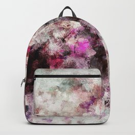 Modern Abstract Painting in Purple and Pink Tones Backpack