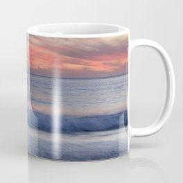 Magical Waves. Square.  Tarifa Beach At Red Sunset Coffee Mug