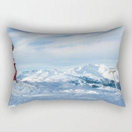 Mountain rescue station Rectangular Pillow