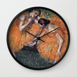 Edgar Degas  -  Two Dancers Around Wall Clock