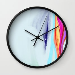 Golden sunset in the forest #6 Wall Clock