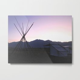 Twilight Tipi Metal Print