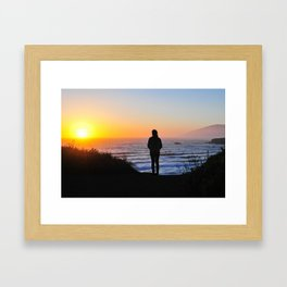 Dollar Beach, Big Sur, CA Framed Art Print