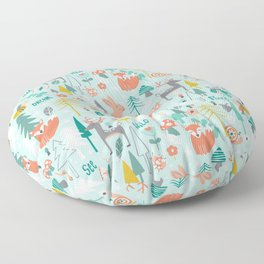 Forest Of Dreamers Floor Pillow