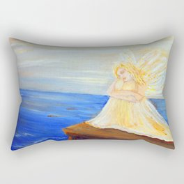 Invite your Angel   Angels are here Rectangular Pillow